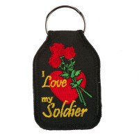 Chain - I Love My Soldier Embroidered Army Key Chain