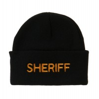 Beanie - Sheriff Military Embroidered Beanie