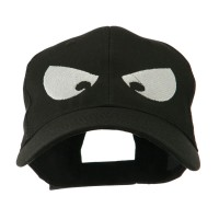 Embroidered Cap - Black Huge Eyes Embroidered Cap