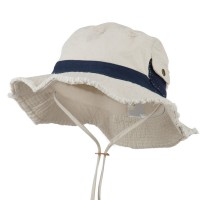 Outdoor - Putty Navy Big Size Cotton Washed Bucket