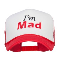 Embroidered Cap - Red White I'm Mad Embroidered Foam Cap