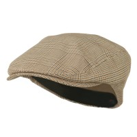 Ivy - Beige Elastic Plaid Fashion Ivy Cap
