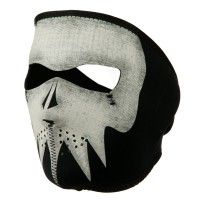 Face Mask - Glow Grey Skull Microfleece Glow Mask