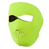 Face Mask - Neon Yellow Neoprene Full Face Mask