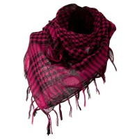 Scarf, Shawl - Fuchsia Flush Fashion Checkered Scarf