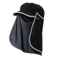 Flap Cap - Black UV 50+ Talson Flap Fidel Cap