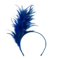 Dressy - Blue Fancy Feather Fascinator