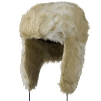 Trooper - White Woman's Faux Fur Trooper Hat