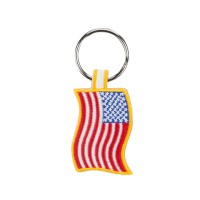 Chain - Yellow US Flag Embroidered Key Chain