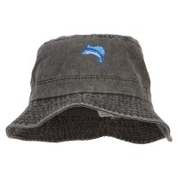 Bucket - Black Sailfish Embroidered Big Bucket Hat