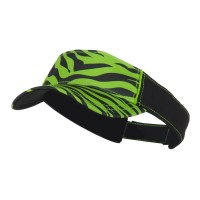 Visor - Lime Zebra Ladies Fit Print Visor