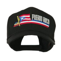 Embroidered Cap - Puerto Rico Flag , Name Patched Cap