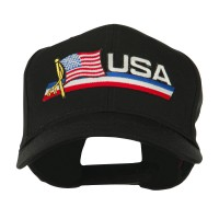 Embroidered Cap - USA Flag , Name Patched Cap
