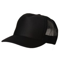 Ball Cap - Black Summer Foam Mesh Trucker Cap