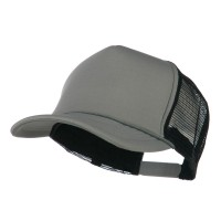 Ball Cap - Grey Black Summer Foam Mesh Trucker Cap