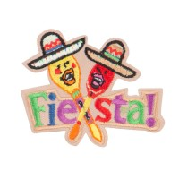 Patch - Beige Fiesta Party Patches