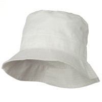 Bucket - White White Infant Bucket Hat