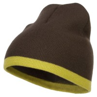Beanie - Royal White Fine Guage Two Tone Knit Cap