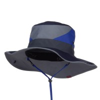 Outdoor - Blue Roll Up Folded Brim Outdoor Hat