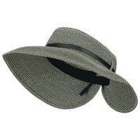 Visor - Black Grey Women's UPF 50+ Tweed Buckle Visor