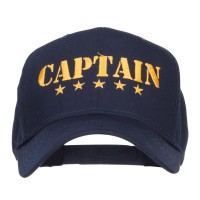 Embroidered Cap - Navy Stars Captain Embroidered Cap