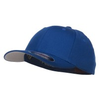 Ball Cap - Royal Flexfit Youth Wooly Twill Cap