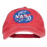 Embroidered Cap - Red Lunar Landing NASA Patched Cap
