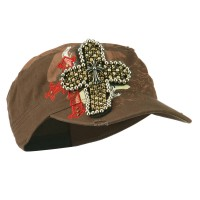 Cadet - Brown Gothic Cross Military Cap