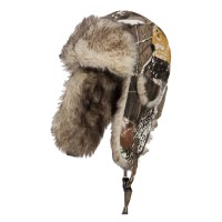 Trooper - Snow Camouflage Bomber Fur Trooper Hat