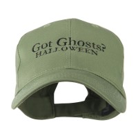 Embroidered Cap - Olive Ghosts Halloween Embroidered Cap