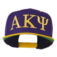 Embroidered Cap - Purple Gold Alpha Kappa Psi Embroidered Cap