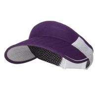 Visor - Purple Golf Roll Up Sun Visor