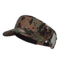 Visor - Green Digital Army Roll Up Visor
