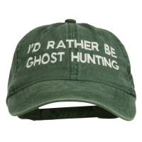 Embroidered Cap - Dark Green Rather Be Ghost Embroidered Cap
