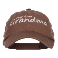 Embroidered Cap - Brown Hug Giver Grandma Embroidered Cap