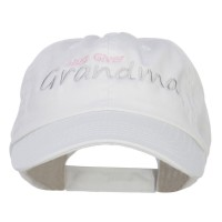 Embroidered Cap - White Hug Giver Grandma Embroidered Cap