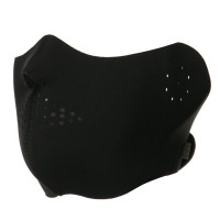 Face Mask - Black Half Cover Face Mask