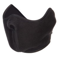 Face Mask - Black Fleece Half Face Mask