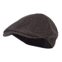 Ivy - Brown Herringbone Wool Ivy Cap