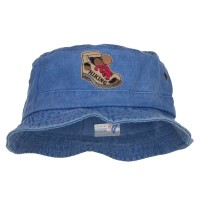 Bucket - Royal Hiking Shoes Patched Bucket Hat