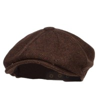 Newsboy - Brown Men's Herringbone Wool Newsboy