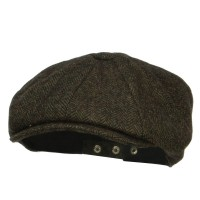 Newsboy - Green Men's Herringbone Wool Newsboy