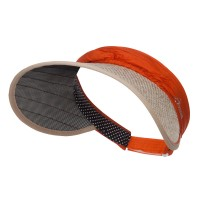 Visor - Orange Hidden Lid Wrap Visor Cap