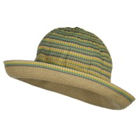 Dressy - Yellow Girl's UPF 50+ Plaid Bucket Hat