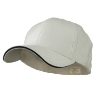 Ball Cap - White Navy Heavy Weight Fitted Cap