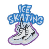 Patch - Blue Ice Skating Embroidered Patches