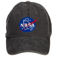 Embroidered Cap - Black NASA Insignia Washed Cap