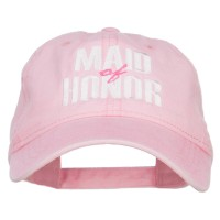 Embroidered Cap - Pink Maid of Honor Embroidered Cap