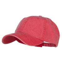 Ball Cap - Red Big Size Washed Pigment Dyed Cap