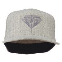 Embroidered Cap - Heather Diamond Logo Fitted Youth Cap